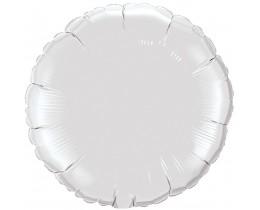 Folie ballon rond wit