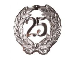 Schild 25 zilver