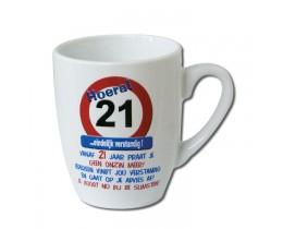 Mok 21 jaar Verkeersbord