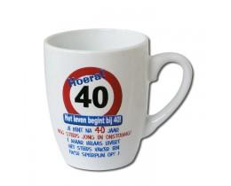 Mok 40 jaar Verkeersbord