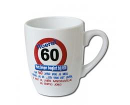 Mok 60 jaar Verkeersbord