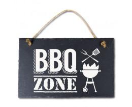 Leisteen bordje BBQ zone