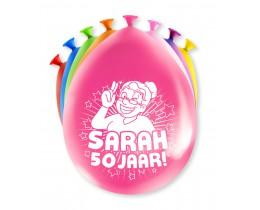Ballonnen Sarah 50 jaar