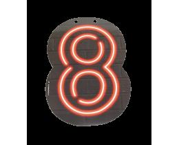 Neon cijfer 8