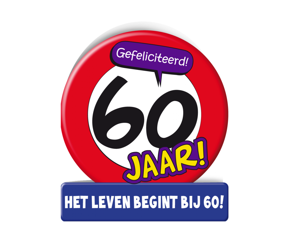 Wenskaart 60 jaar Verkeersbord