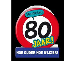 Wenskaart 80 jaar Verkeersbord