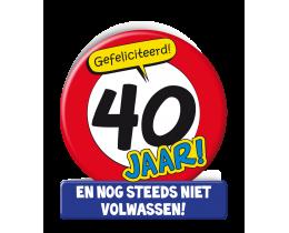 Wenskaart 40 jaar Verkeersbord