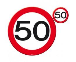 Verkeersbord 50 jaar klein