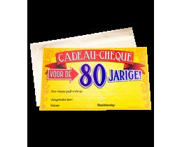 Cadeau Cheque 80 jaar