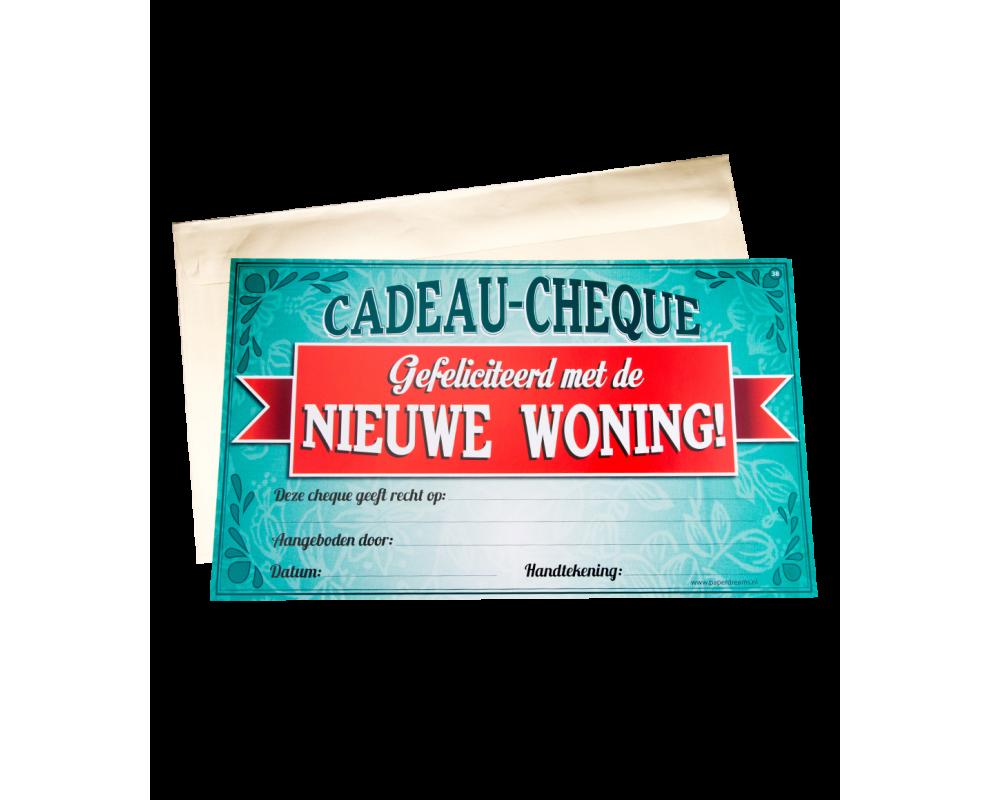 Cadeau Cheque Nieuwe Woning