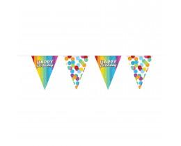 Vlaggenlijn Happy Birthday katoen