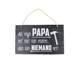Leisteen bordje Papa