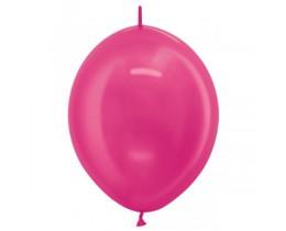 Link o Loon ballon metallic Fuchsia 15cm