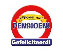 Huldeschild Pensioen Verkeersbord
