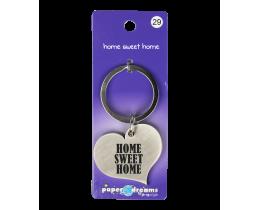 Hart sleutelhanger Home Sweet Home