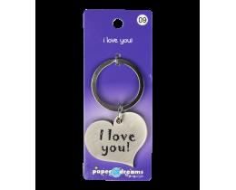 Hart sleutelhanger I Love You