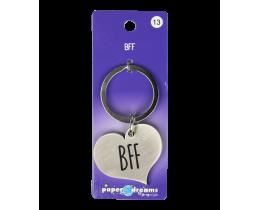 Hart sleutelhanger BFF