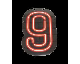 Neon cijfer 9