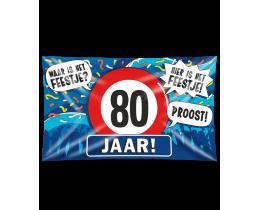 Gevelvlag 80 jaar XXL