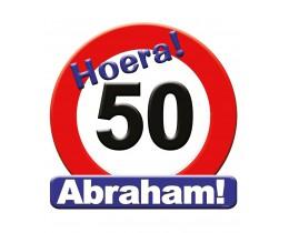 Huldeschild Abraham Verkeersbord