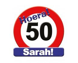 Huldeschild 50 Sarah Verkeersbord