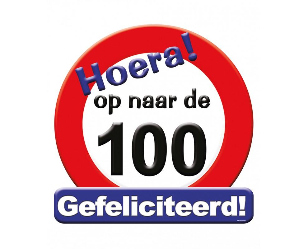 Huldeschild 100 jaar Verkeersbord