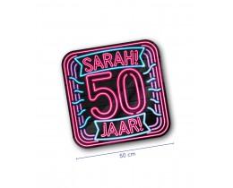 Huldeschild Neon Sarah 50