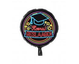 Folieballon Geslaagd Neon