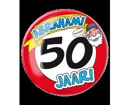 Button XL Abraham 50 jaar