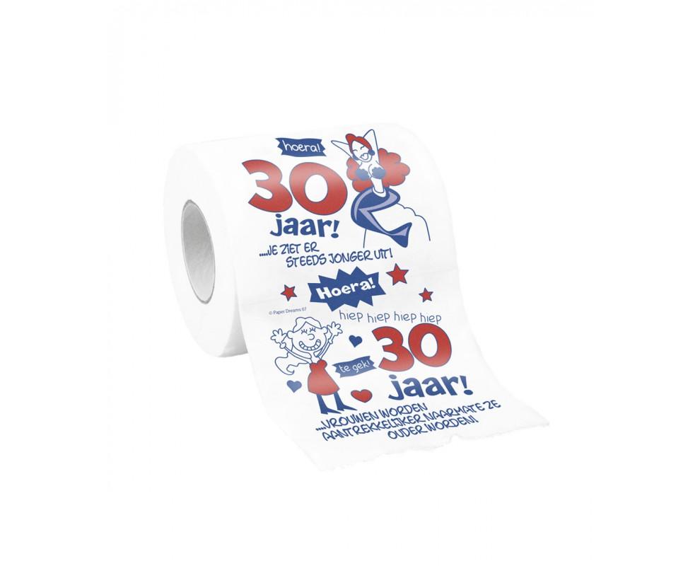 Toiletpapier 30 jaar vrouw