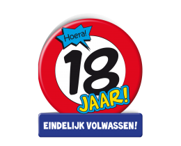 Wenskaart 18 jaar Verkeersbord