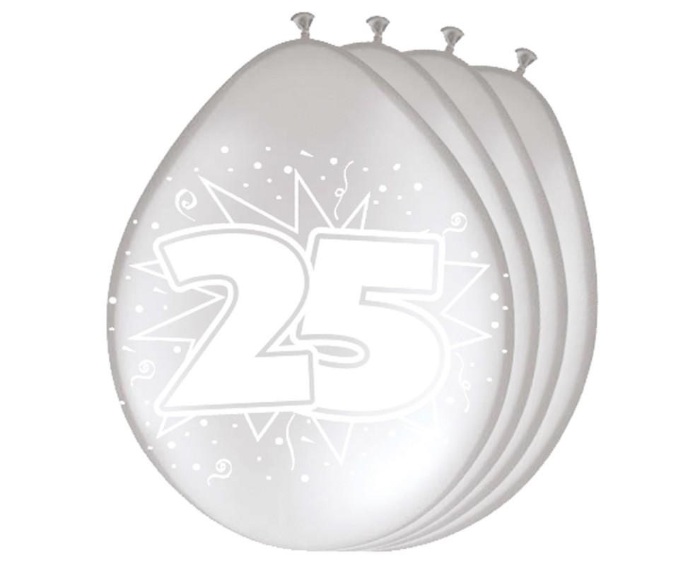 Ballonnen 25 zilver