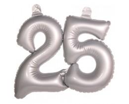 opblaascijfer-25-zilver