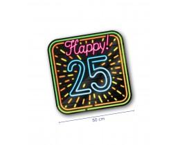 Huldeschild Neon 25 jaar