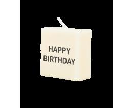 Blokkaarsje Happy Birthday