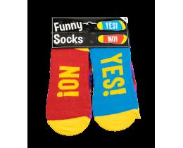Funny Socks Yes No