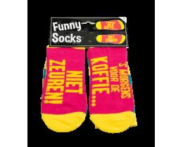 Funny Socks Koffie niet zeuren