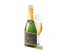 Wenskaart Geslaagd Champagne