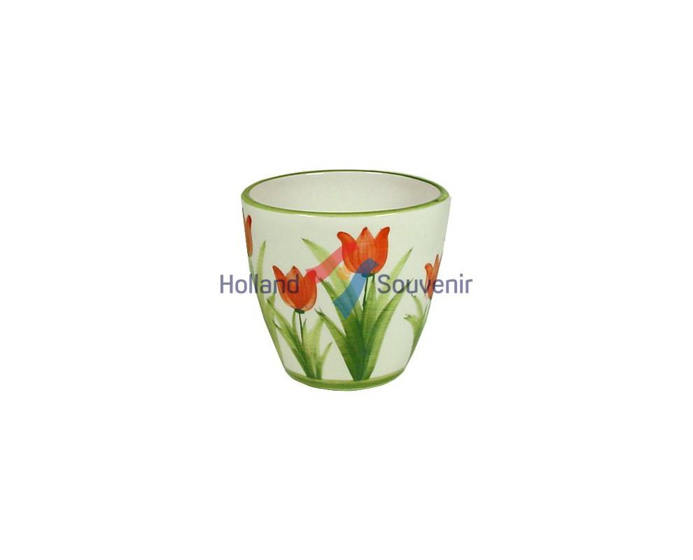 Bloempot Tulpen rood