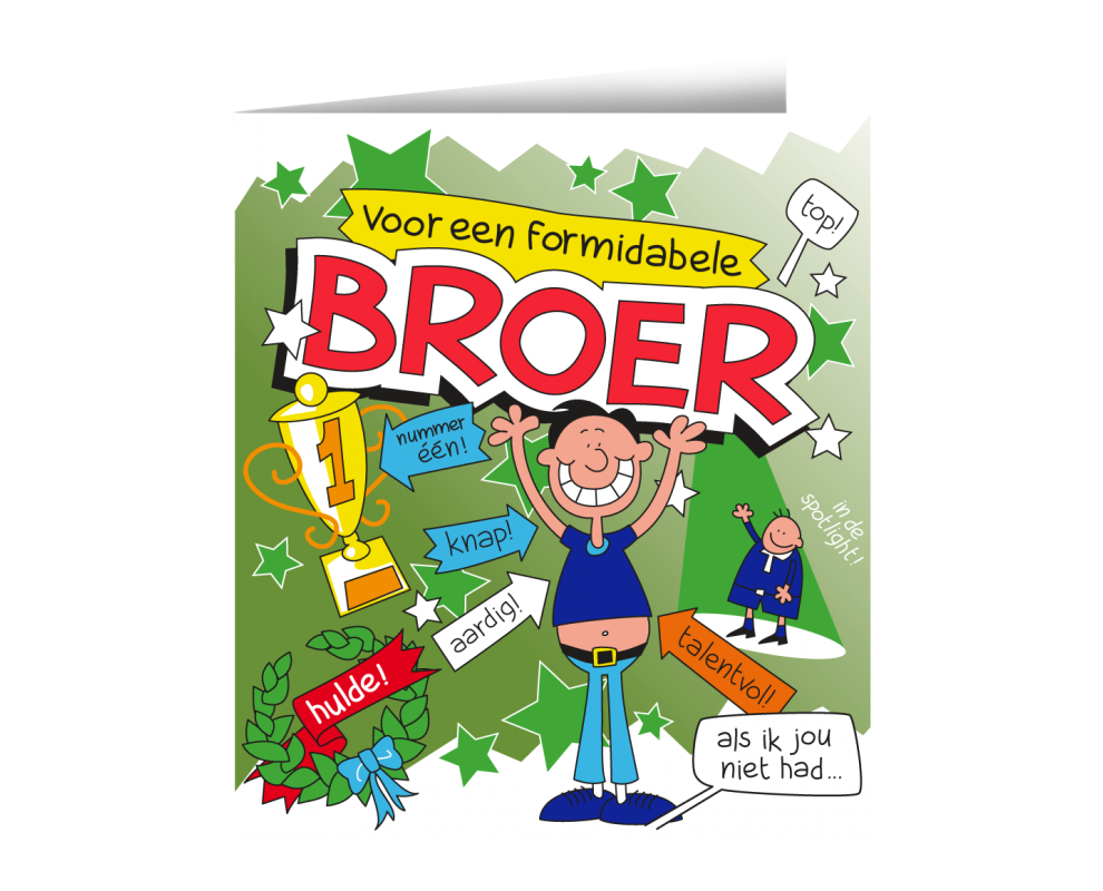 Wenskaart Broer Cartoon