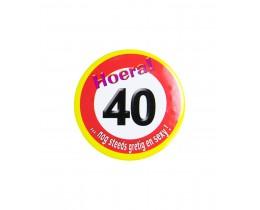 Button 40 Verkeersbord