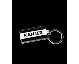 Sleutelhanger Kanjer Black and White