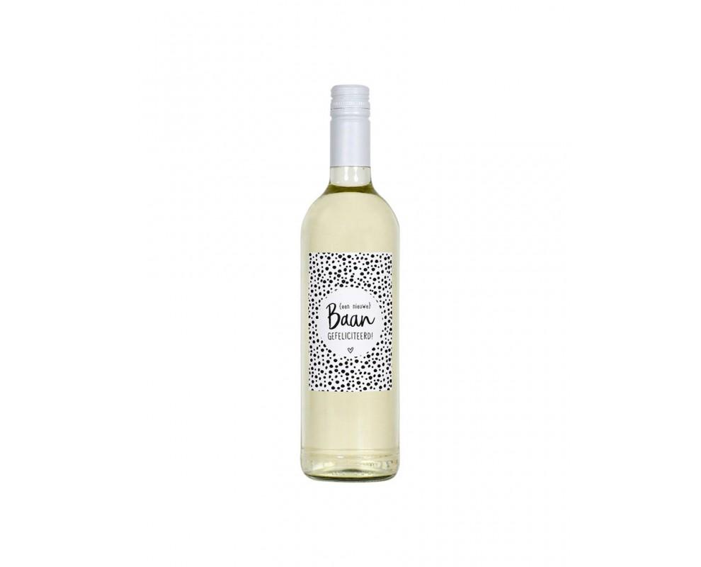 Fles etiket Nieuwe Baan Zoedt