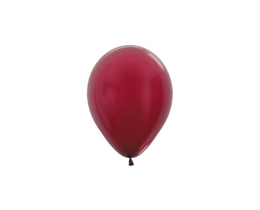 Ballon Metallic Burgundy 12cm