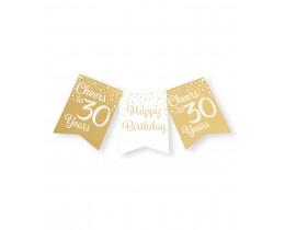Vlaggenlijn 30 jaar goud en wit