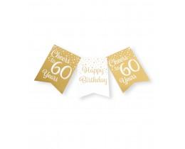 Vlaggenlijn 60 jaar goud en wit