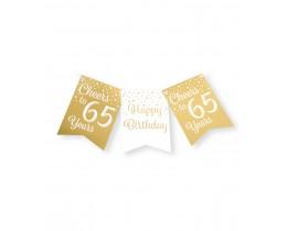 Vlaggenlijn 65 jaar goud en wit