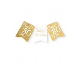 Vlaggenlijn 80 jaar goud en wit