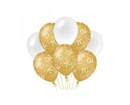 Ballonnen 70 jaar goud en wit