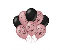 Ballonnen 70 jaar rosé goud en zwart